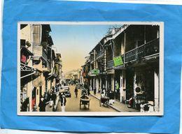 NORD VIETNAM-HAPHONG -rue Chinoise Animée -a Voyagé En 1954 En FM Pour SP 50068  T O E - Viêt-Nam