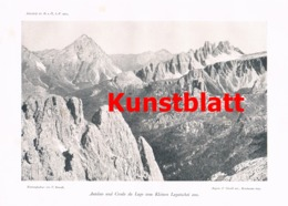 670 Von Glanvell Fanis Fanes Tofana Tofane  Dolomiten Artikel Von 1904 !! - Italy