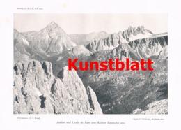 670 Von Glanvell Fanis Fanes Tofana Tofane  Dolomiten Artikel Von 1904 !! - Non Classificati