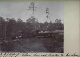! Original Foto, Old Photo, Dampflokomotive Railway, Steam Locomotive, Lufkin Land & Lumber Company, Monterey, USA, 1904 - Trenes