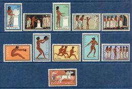 Grèce - YT N° 713 à 723 - Neuf Sans Charnière - 1960 - Unused Stamps