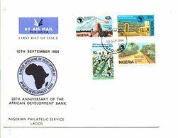 NIGERIA FDC 1984 20 ANS BANQUE AFRICAINE DE DEVELOPPEMENT - Nigeria (1961-...)