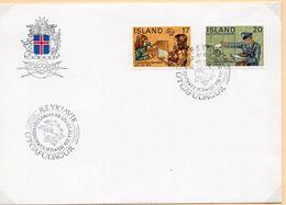 SOBRE 1r.DIA CENTENARIO UPU, 1974,  IRLANDA. MICHEL 488-489 - 1944-... Repubblica