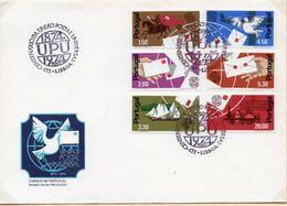 SOBRE 1r.DIA CENTENARIO UPU, 1974,  PORTUGAL. MICHEL 1248-1253 - Covers & Documents