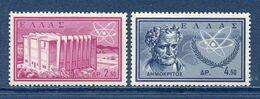 Grèce - YT N° 751 Et 752 - Neuf Sans Charnière - 1961 - Unused Stamps