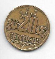 *peru 20 Centimos 1991 Km  306.1 - Pérou