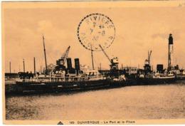 Dunkerque Le Port Et Le Phare ( Fery à La Gare Maritime - Dunkerque