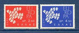 Grèce - YT N° 753 Et 754 - Neuf Sans Charnière - 1961 - Unused Stamps
