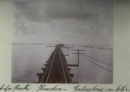 ! Original Foto Auf Hartpappe, Old Photo, Railway Houston - Galveston, Texas, USA, 1904 - Galveston