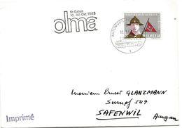 """59 - 26 - Enveloppe Avec Oblit Spéciale """"OLMA St Gallen 1963"""" - Marcofilie"""