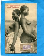 A O F-DAHOMEY- Colonies-gros Plan 2 Jeunes Femmes Dahoméenes Seins Nus - -années 1910-éditionFortier - Dahomey
