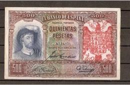 Spain España Espagne 500 Pesetas 1931 Contramarca Privada Águila San Juan - [ 3] 1936-1975 : Regency Of Franco