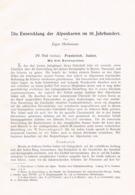 686 Oberhummer Entwicklung Der Alpenkarten Artikel Von 1905 !! - Wereldkaarten