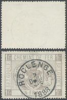 "Chemin De Fer - TR6 Obl Simple Cercle ""Roclenge"" (1888). - Used"
