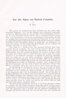 689 Tewes Britisch Columbia Alpen Kanada Artikel Von 1905 !! - Nord- & Südamerika