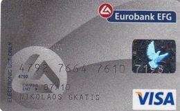GREECE - Eurobank EFG Visa(reverse Oberthur, Tel : 210 9555000), 04/07, Used - Cartes De Crédit (expiration Min. 10 Ans)