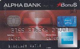 GREECE - Bonus, Alpha Bank American Express, Used - Cartes De Crédit (expiration Min. 10 Ans)
