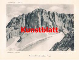 691 Seyfert Radio-Radiis Marmolata Dolomiten Artikel Von 1905 !! - Stampe