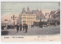 CPA - Bruxelles - Porte De Schaerbeek - Trams / Tram-cheval  - Colorisée - 1903 - Schaarbeek - Schaerbeek