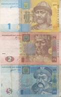 Ukraine : Série De 3 Billets : 1 Hryvnia 2011 + 2 Hryvni 2005 + 5 Hryven 2011 (TB-B-Moyen) - Ukraine
