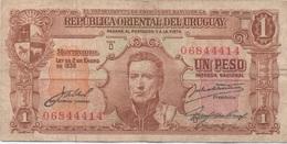 Uruguay : 1 Peso 1939 Mauvais état - Uruguay