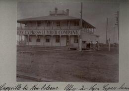! 3 Original Fotos, Old Photos, Caryville Bei New Orleans, Lyon Cypress Lumber Company, Wood, Holz, USA, 1904 - Etats-Unis