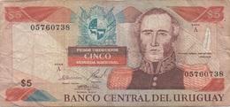 Uruguay : 5 Pesos 1980 Très Mauvais état - Uruguay