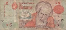 Uruguay : 5 Pesos 1998 Très Mauvais état - Uruguay