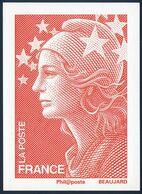 """FRANCE   PAP   Carte   Cadeau De La Poste 2008      """"  MARIANNE DE BEAUJARD   """"     Y&T  4230 - Frankrijk"""