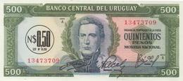 Uruguay : 500 Pesos >>> N$0,50 (dévalué 1/1000) UNC - Uruguay