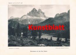 695 Witzenmann Drei Zinne Sexten Dolomiten Artikel Von 1907/1908 !! - Stampe