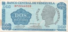 Venezuela : 2 Bolívares 1989 Bon état - Venezuela