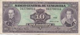 Venezuela : 10 Bolívares 1986 Moyen état - Venezuela