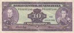Venezuela : 10 Bolívares 1995 Bon état - Venezuela