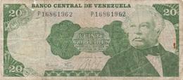 Venezuela : 20 Bolívares 1984 Très Mauvais état - Venezuela