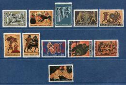 Grèce - YT N° 1007 à 1017 - Neuf Sans Charnière - 1970 - Greece