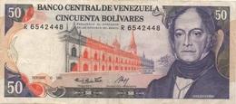 Venezuela : 50 Bolívares 1985 Moyen état - Venezuela