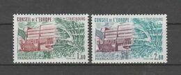 FRANCE / 1982 / Y&T SERVICE N° 73/74 ** : CONSEIL (Palais De L'Europe/Hémicycle 1F80 & 2F60) X 1 - Neufs