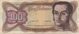 Venezuela : 100 Bolívares 1990 Moyen état - Venezuela