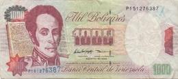 Venezuela : 1000 Bolívares 1998 Moyen état - Venezuela