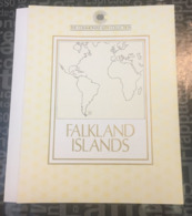 (special) The Commonwealth Collection - Mint Stamps / Timbres Neuf (size 22 X 26cm) Faukland Islands (folder) - History