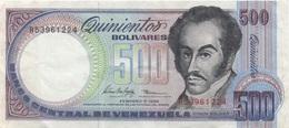 Venezuela : 500 Bolívares 1998 Bon état - Venezuela