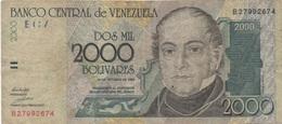 Venezuela : 2000 Bolívares 1998 Mauvais état - Venezuela