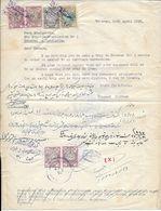 Iran 1958 Invitation  Letter Of Guaranty With Revenue Stamps For Yugoslav Citizen - Irán