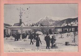 OUDE POSTKAART - ZWITSERLAND - SCHWEIZ -    DAVOS - KURPLATZ - GEANIMEERD  1905 - GR Grisons