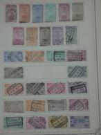 29 TIMBRES BELGIQUE.  8 NEUFS + 21 OBLITERES. SUR CHARNIERES. CHEMIND DE FER. - Railway