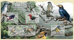 Salomon 2012, Animals, Birds Of Solomon Islands, 4val In BF+BF - Passereaux