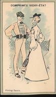Chromos  Comprimes Vichy - Etat ---  Flirting - Tennis - Autres