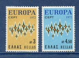 Grèce - YT N° 1084 Et 1085 - Neuf Sans Charnière - 1972 - Griechenland