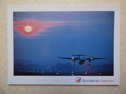 DASH 8   AUGSBURG AIRWAYS  D-BMUC     AIRLINE ISSUE / CARTE COMPAGNIE - 1946-....: Ere Moderne